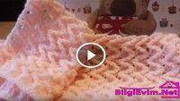 Tığ İşi Ziğzag Örgü odeli Yapılışı Videolu Anlatım