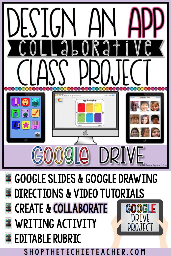 Students will explore their creativity with this Design an App COLLABORATIVE Project in Google Slides. Google Slides and Google Drawing will be used in this project. Step-by-step directions and video tutorials are included. There is also an editable grading rubric!