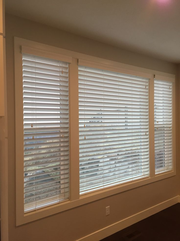 The Carter Residence Chose Norman 2 White Faux Wood Blinds Beautiful Clean Look With No Rout Holes For A Er Close And Less Light