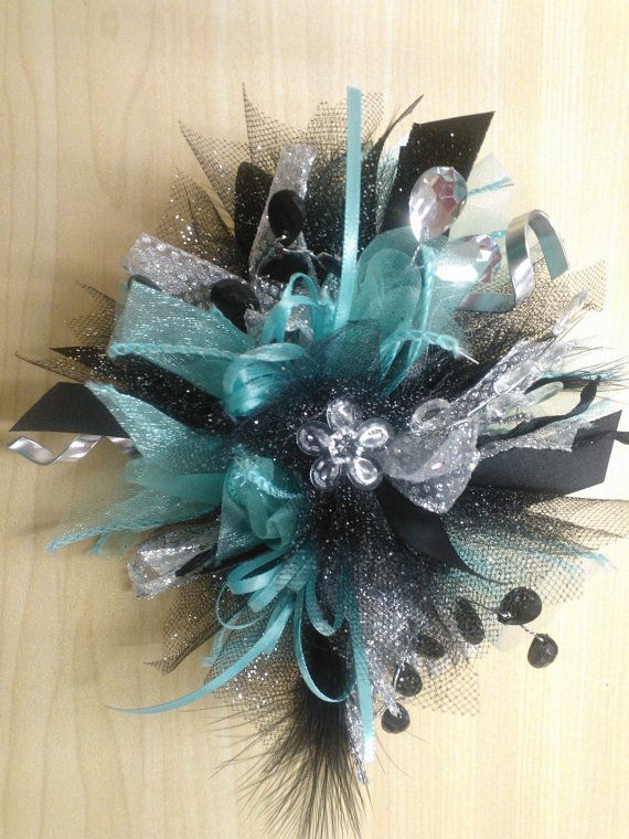 Silk wrist corsage for prom or homecoming