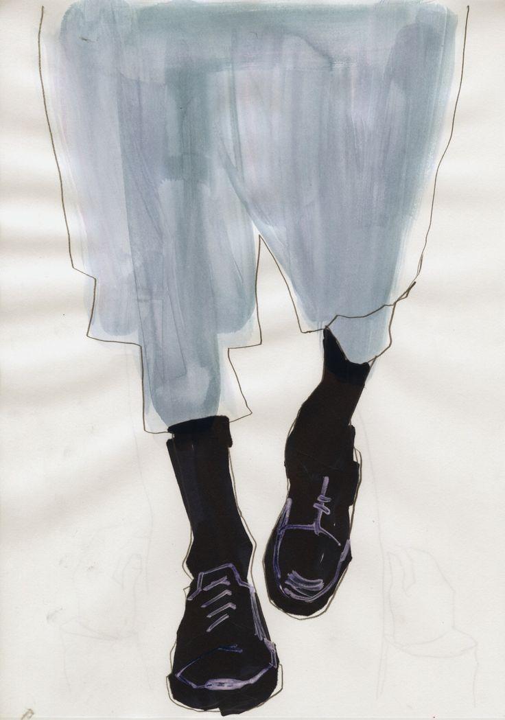 Jil Sander S/S 16 illustrated by Joshua Osborn