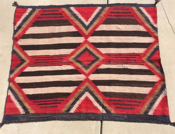 Navajo Navaho Third Phase Chiefs Blanket Textile Weave Cir 1890 1910 51