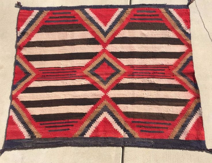 Find best value and selection for your Navajo Navaho Third Phase Chiefs  Blanket Textile Weave Cir 1890 1910 51 x 42 search on eBay.