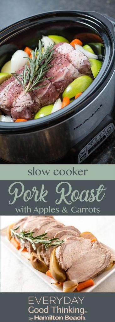 slow cooker pork roast with apples