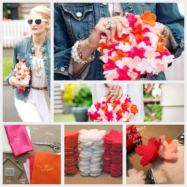 DIY Floral Felt Clutch DIY : DIY Fashion by Trinkets in Bloom