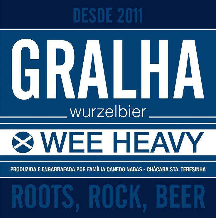 GRALHA wurzelbier Wee Heavy. Produzida e engarrafada por família Canedo Nabas - Chácara Sta Teresinha.