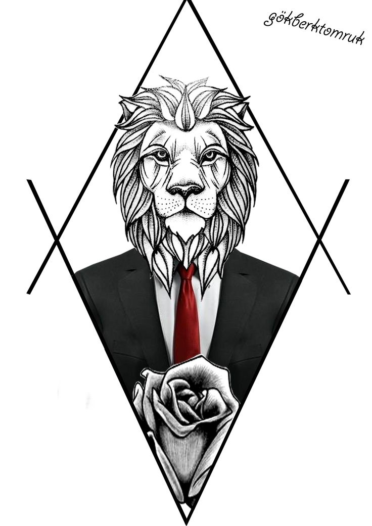 Lion And Rose Suit Design Tattoo Lion Rose Suit Design Tattoo Rosetattoo Liontattoo