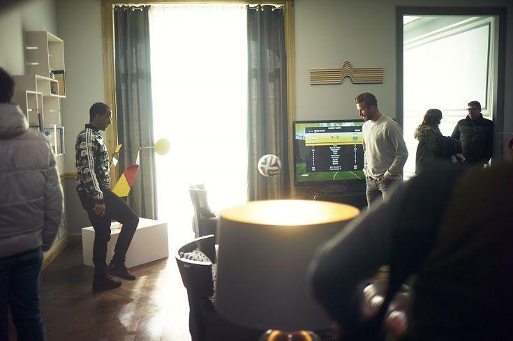 "Beckham and Lucas Moura dans le film ""House Match"" (adidas)"