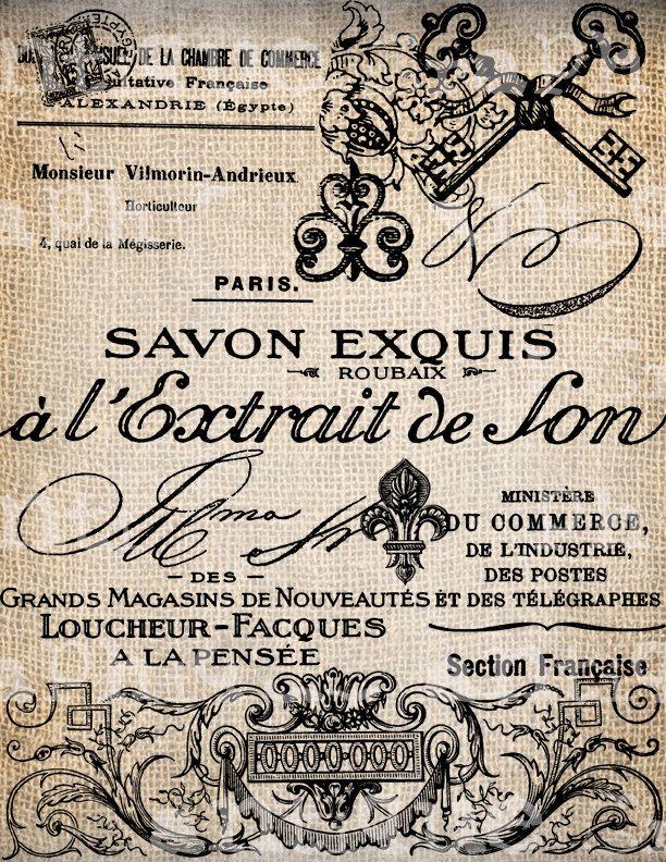 Antiquariato francese etichette grafia Fleur di AntiqueGraphique