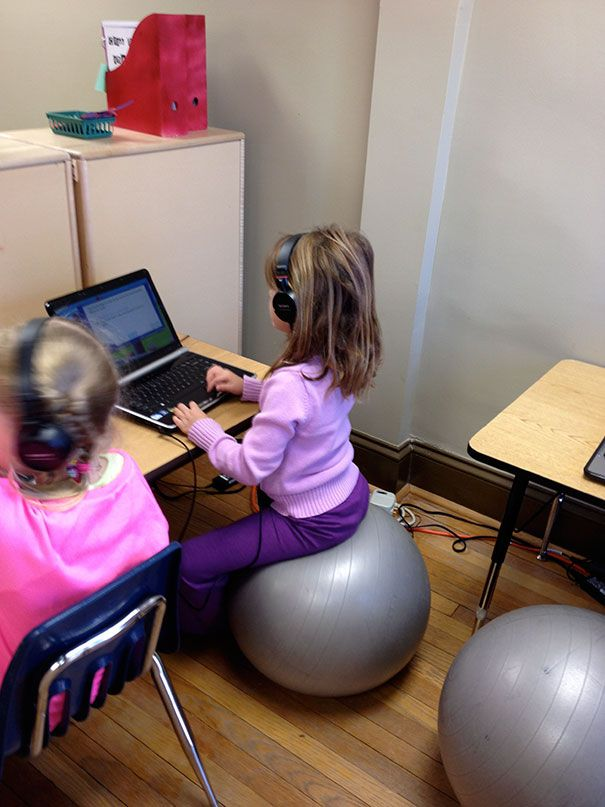 Let You Kids Sit On Stability Balls While Doing Homework. It Can Help Them To Concentrate