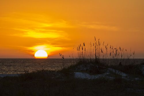 sunsets on Lido Beach, Sarasota, Florida