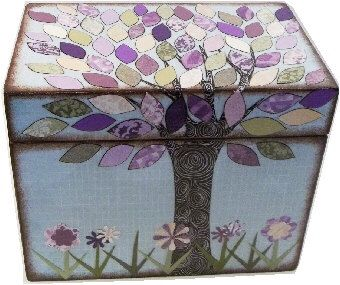 Recipe Box, Lavender Purple, Cream and Green Tree Wedding Shower Box, Kitchen Storage, Organization Holds 4x6 Recipe Cards  MADE To ORDER by IHaveBeenFramed on Etsy https://www.etsy.com/listing/164782822/recipe-box-lavender-purple-cream-and