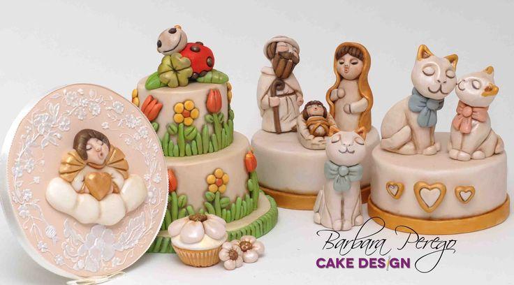 Tanti progetti ispirati alle ceramiche in stile Thun, tutti in psta di zucchero. Vi piacciono?