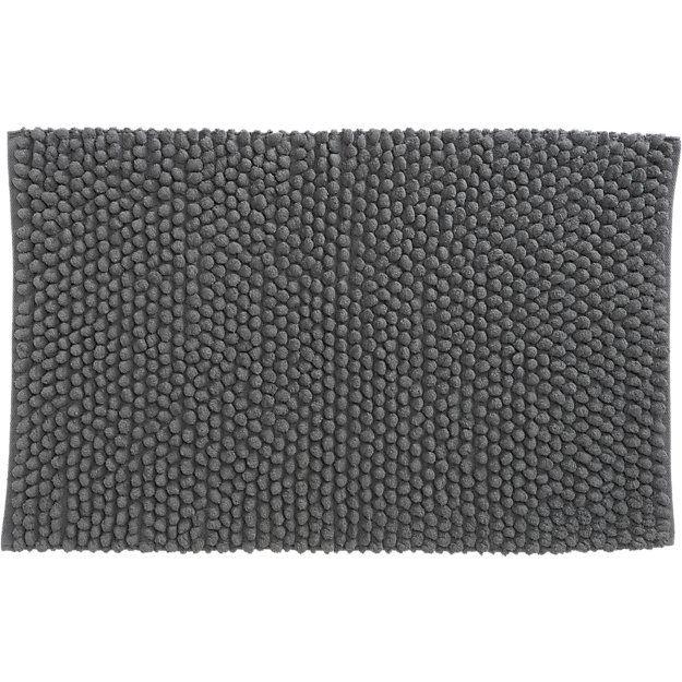 cirrus grey bath mat | CB2