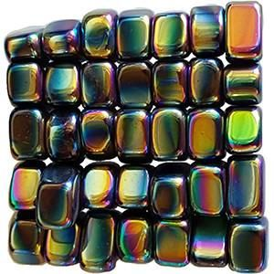 These magnetic tumbled Hematite stones have been magnetized, leaving them attracted to metal (and each other!) with the tenacity of a strong refrigerator magnet