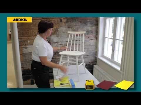 Vanhan tuolin hiominen ja maalaaminen - YouTube