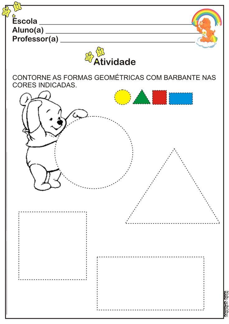 Atividade Cores e Formas | Ideia Criativa - Gi Barbosa Educação Infantil