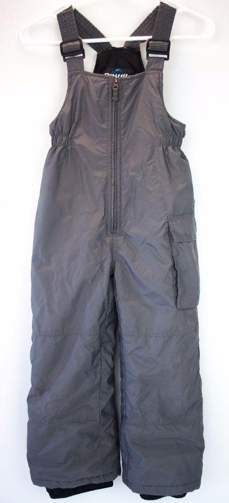 Kids Ski Bib Snow Pants Size L 6 Gray Nylon Outdoor Play #Rawik #SkiBibSnowPants…
