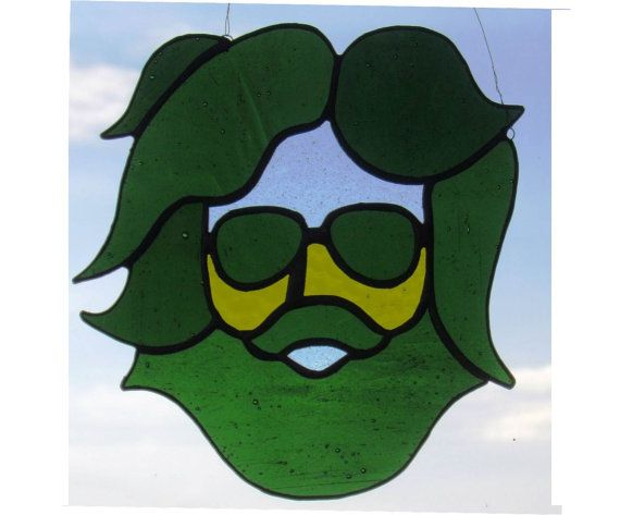 Jerry Garcia Grateful Dead Stained Glass by northwindglass on Etsy