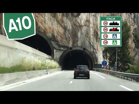 IT / A10 Frontiera Francia Italia - Ventimiglia - San Remo / Autostrada dei Fiori - YouTube