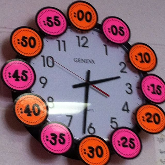 Classroom times for analog clocks.