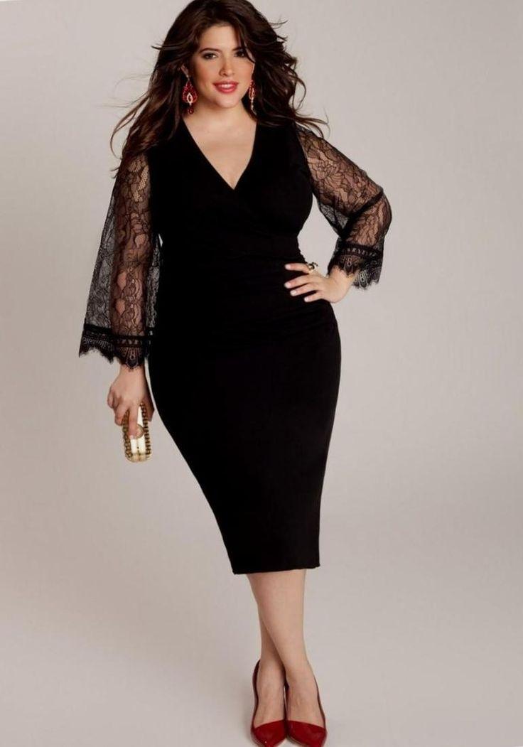 Christmas dresses for plus size - http://pluslook.eu/party/christmas-dresses-for-plus-size.html. #dress #woman #plussize #dresses