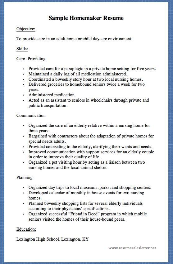 Oltre 25 Fantastiche Idee Su Rapport De Stage 3eme Su Pinterest   Homemaker  Resume Skills  Homemaker Resume