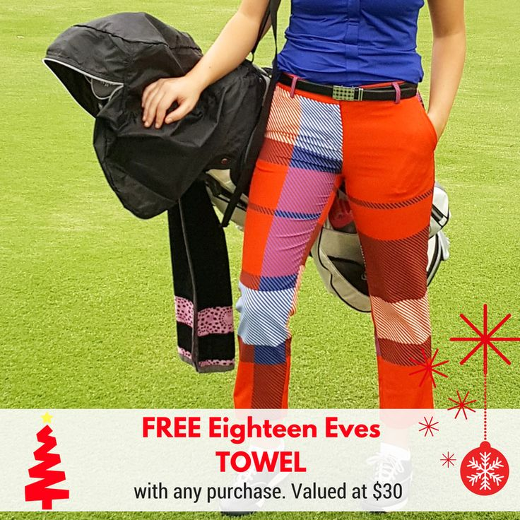 On the 10th Day of Christmas Eighteen Eves gave to me....  A FREE EIGHTEEN EVES TOWEL with ANY ORDER! TODAY ONLY!!  Not to be used in conjunction with any other offer. Any order placed on 13th December will automatically receive a towel. No codes required. Happy Golfing!