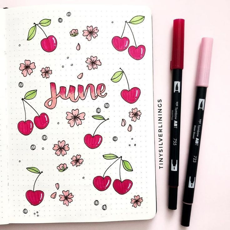 Bullet Journal Summer Cover Page Ideas