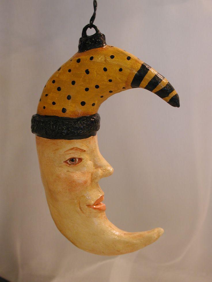 OOAK+Halloween+Moon+Ornament+by+Bonnie+Jones+by+bonniebj+on+Etsy,+$45.00