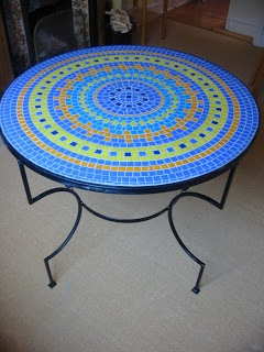 Making a mosaic table