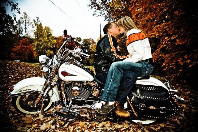 Fall Engagement Picture Outfits | Fall Engagement Photo Session Motorcycle Tennessee Nashville Wedding ...