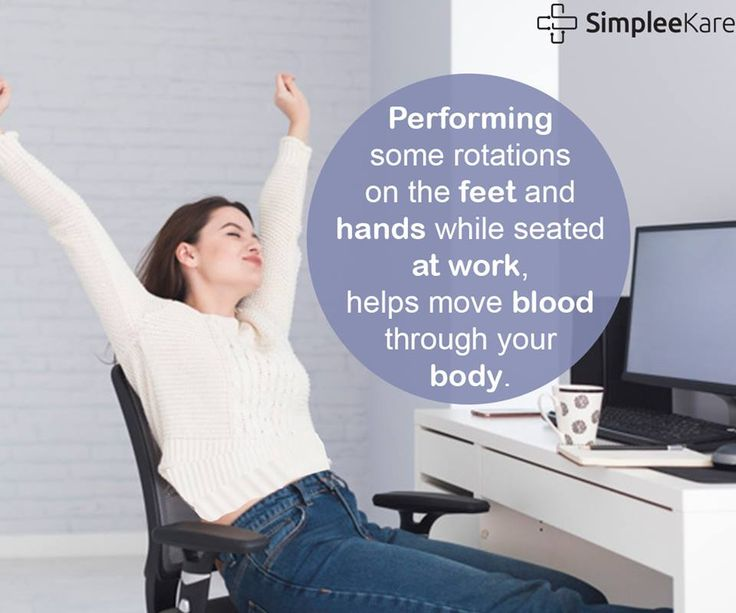 Performing leg and hand exercises while sitting can
