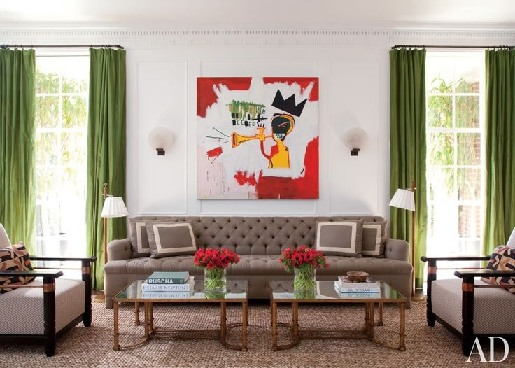 Tufted sofa AND a Basquiat. Sigh.