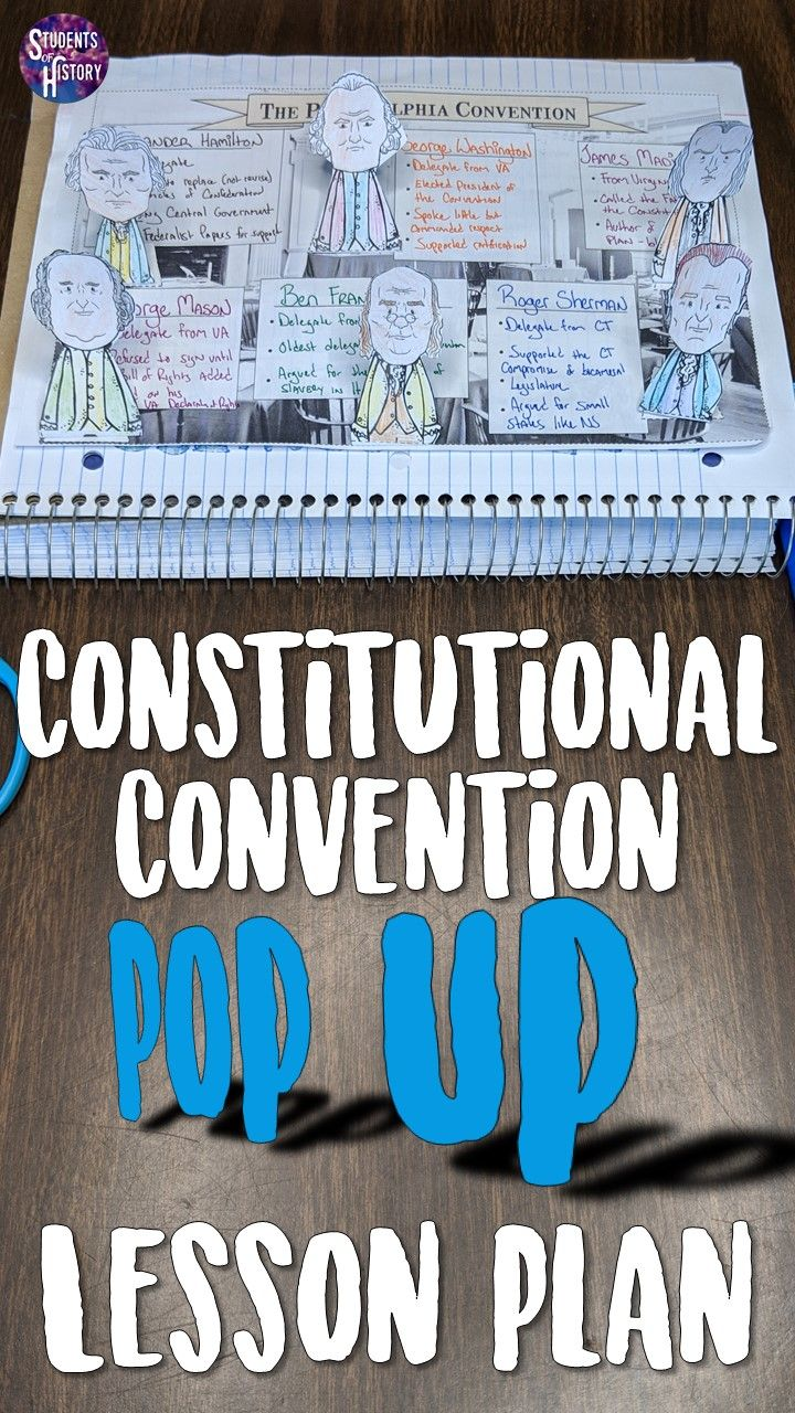 constitutional convention pop up figures rise of democracy lesson
