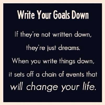 Write your goals down