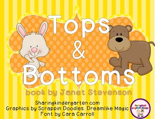 mini unit based on the book Tops and Bottoms by Janet Stevenson... you are going to love it!