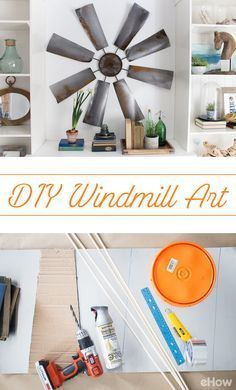 One man's trash is another man's treasure. Literally. We LOVE this repurposed windmill as hanging art: http://www.ehow.com/how_12343214_fixer-upper-decor-diy-windmill-decor.html?utm_source=pinterest.com&utm_medium=referral&utm_content=freestyle&utm_campaign=fanpage