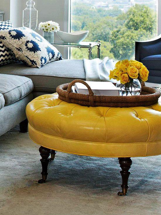 Best 25 Yellow Ottoman Ideas On Pinterest