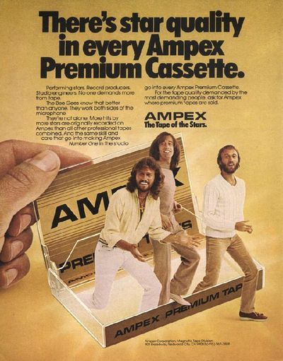 Tragedy...: Celeb Ads, Premium Cassette, Bees, Beegees, Cassette Tape, Ampex Cassette, Ampex Premium, Vintage Ads, Bee Gees
