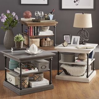 Shop For SIGNAL HILLS Barnstone Cornice Accent Storage Side Table. Get Free  Shipping At Overstock. Online Furniture StoresFurniture ...