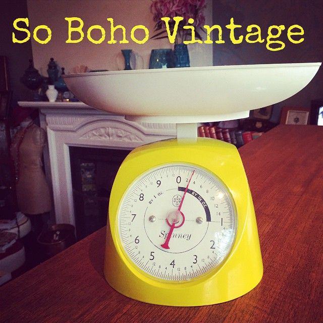 """#sobohovintage #vintagehomewares #midcenturyhome #midcenturydesign #kitchenscales #spinney #yellow #vintagehome #vintageinteriors #qualityvintage from #sobohovintage #findusonfb #findusatvintagefairs #findusonline www.sobohovintage.co.uk Photo taken by @vintagelynz on Instagram"
