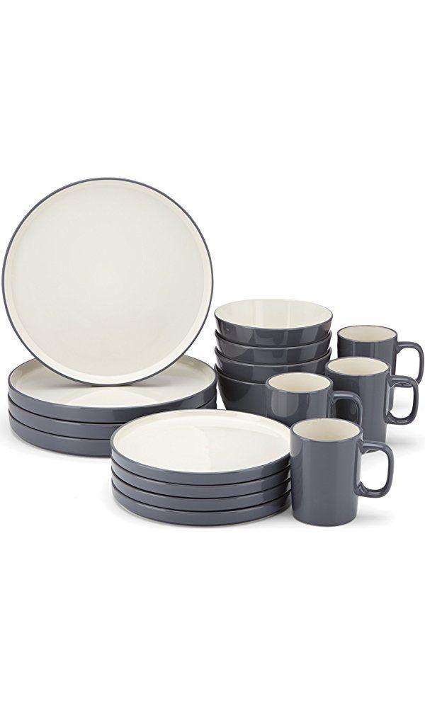 Food & Wine For Gorham Modern Farmhouse 16-Piece Dinnerware Set, Dusk Best Price