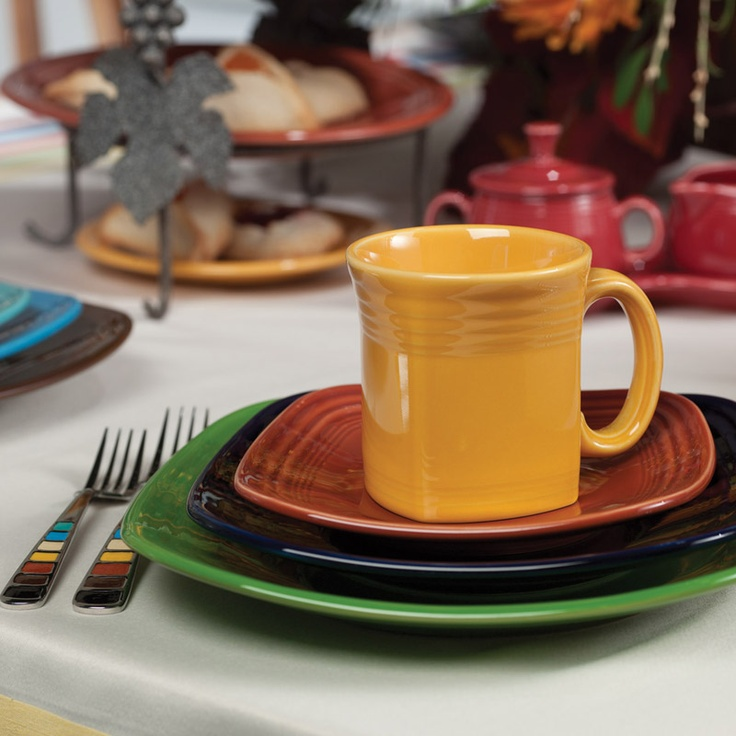 Homer Laughlin Fiesta® Square & 143 best Fun with Fiestaware images on Pinterest | Fiesta ware ...