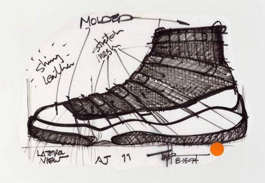 Original Air Jordan 11 Sketch