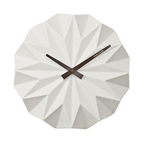 Present Time Clock Origami Wall Clock in White – Next Day Delivery Present Time Clock Origami Wall Clock in White from WorldStores: Everything For The Home