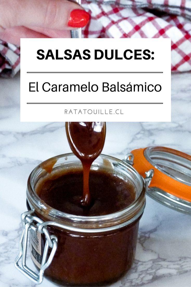 Esta receta de salsa de caramelo es tan rica que tenía que compartírsela. Se prepara con aceto balsámico. Se que suena raro pero lo ácido del aceto combina a la perfección con lo dulce del caramelo. Este choque de sabores provoca un delicioso frisón en boca suavizado por la crema.