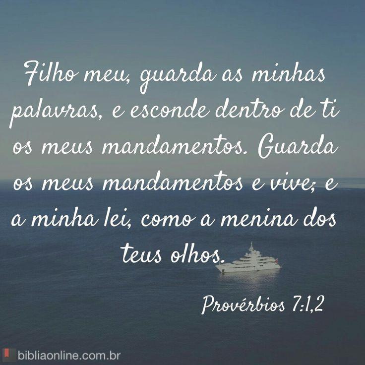 Provérbios 7: 1 e 2