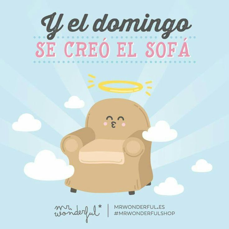Y el domingo se creó el sofá #Mr.Wonderful