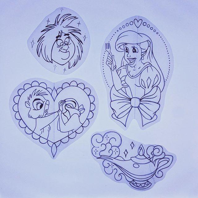 DISNEY tattoo design, sketches, artwork and tattoo art BY AMY TENENBAUM amytenenbaumtattoos@gmail.com